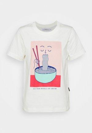MYSEN NOODLE - Print T-shirt - off-white