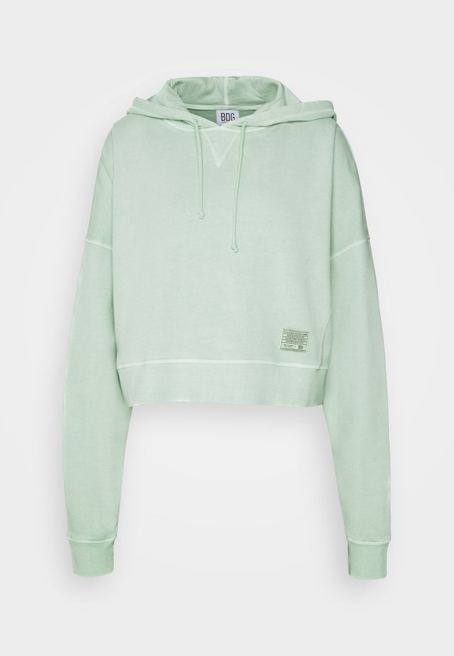 CROPPED SLOUCHY HOODIE - Sweat à capuche - mint
