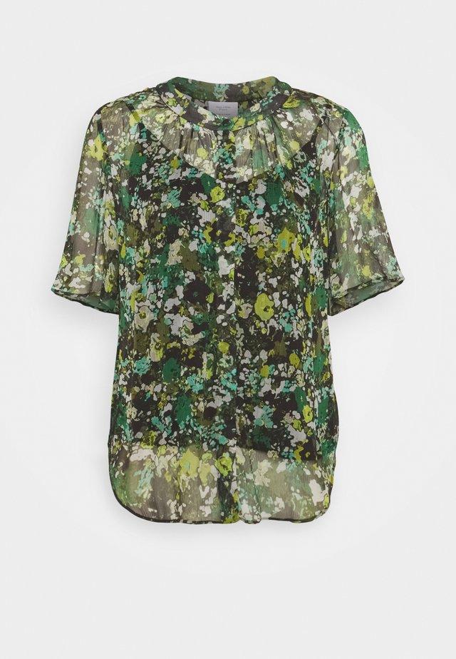 BLOUSE CRINKLE  - T-shirt z nadrukiem - green