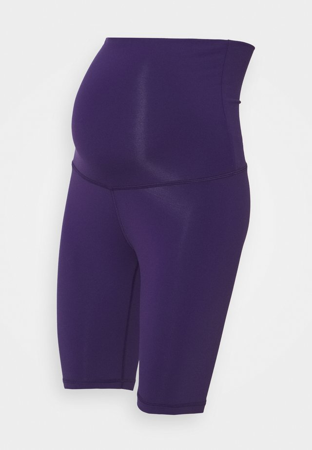 LUX MATERNITY SHORT - Leggings - dark orchid