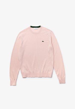 MIT RUNDHALS-AUSSCHNITT - Sweter - rose pale