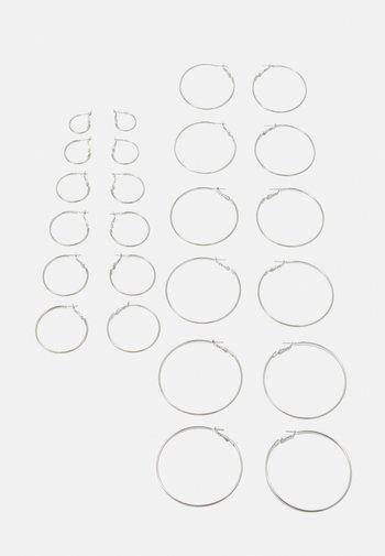 LAURA EARRINGS 12 PACK - Earrings - silver-coloured