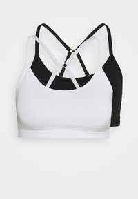 Cotton On Body - YOGA CROP 2 PACK - Sujetadores deportivos con sujeción ligera - black/white - 4