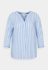 MY TRUE ME TOM TAILOR - BLOUSE STRIPED - Long sleeved top - blue/white - 0