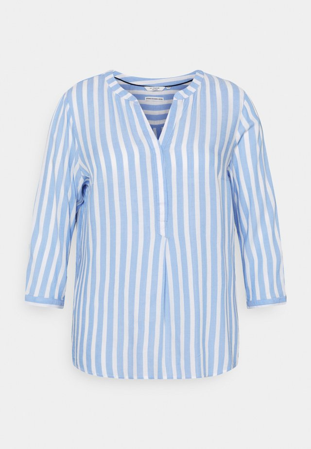 BLOUSE STRIPED - Longsleeve - blue/white