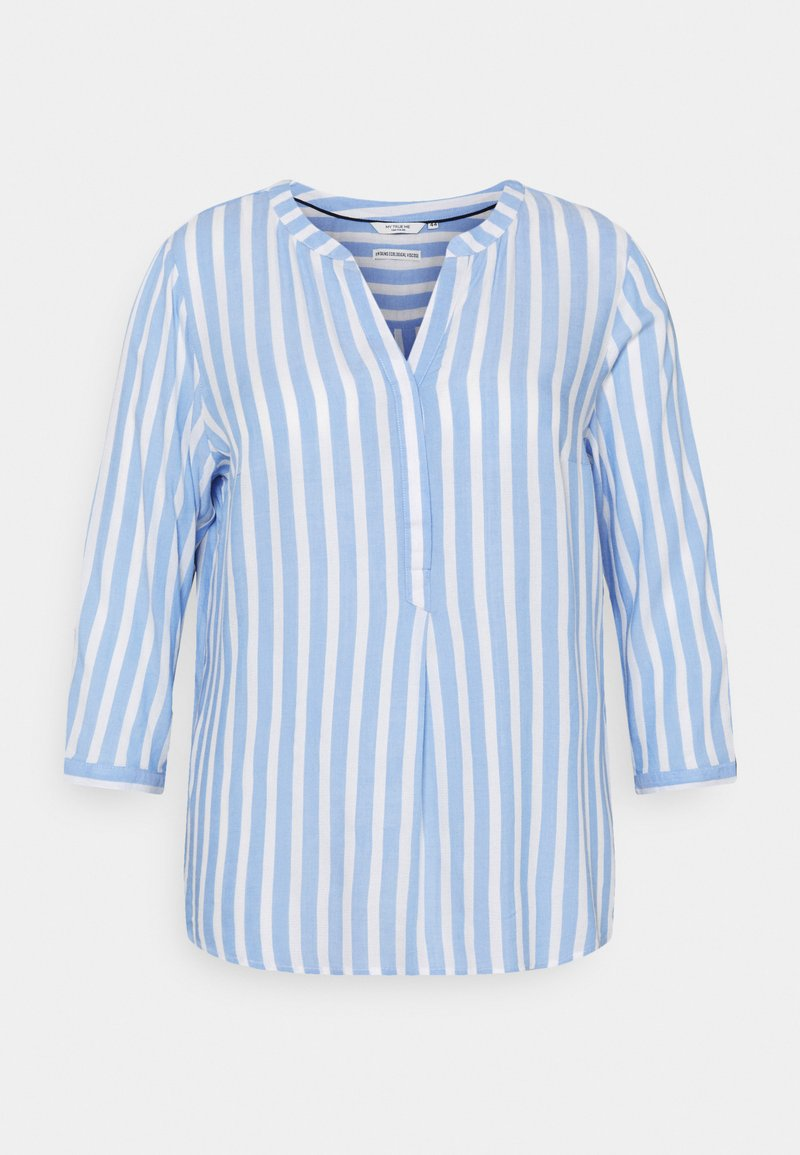 MY TRUE ME TOM TAILOR - BLOUSE STRIPED - Long sleeved top - blue/white