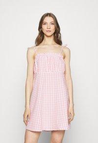 Cotton On - MATILDA TIE STRAPPY MINI DRESS - Day dress - fairy floss - 0
