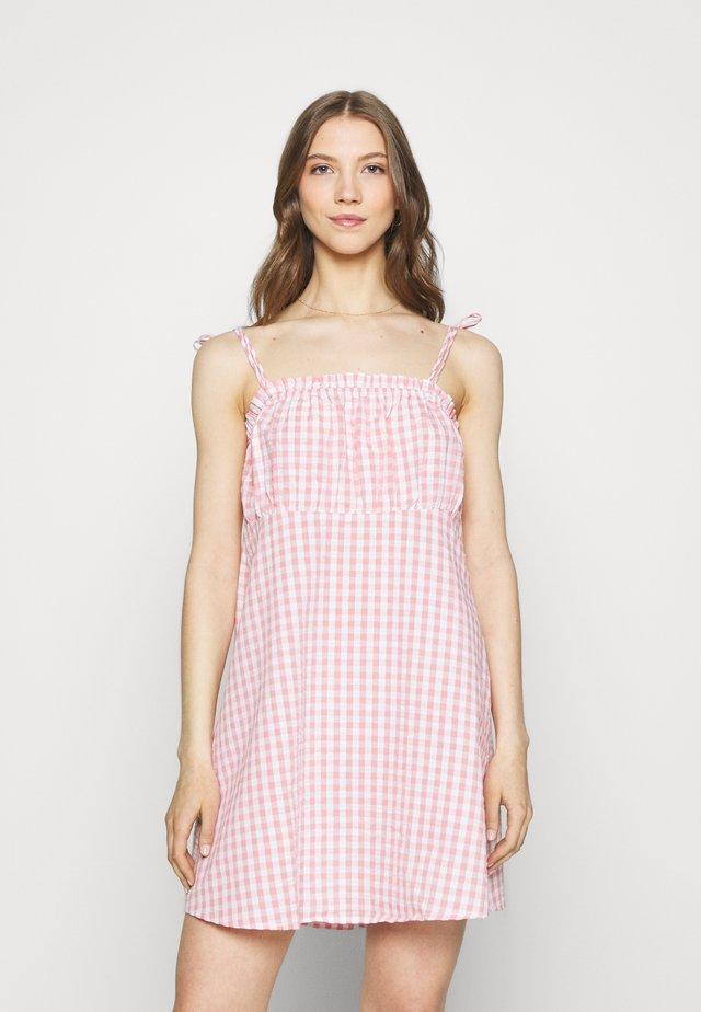 MATILDA TIE STRAPPY MINI DRESS - Vestito estivo - fairy floss