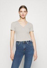 Even&Odd - Print T-shirt - light grey - 0