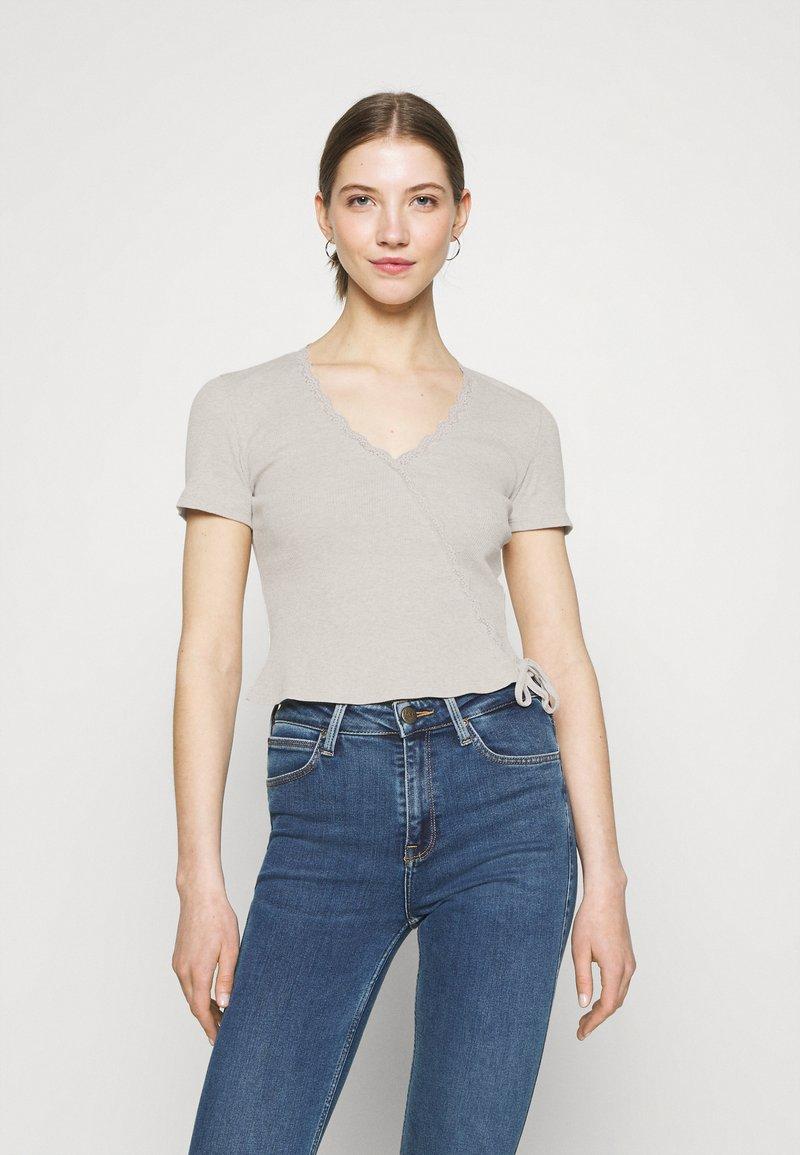 Even&Odd - Print T-shirt - light grey