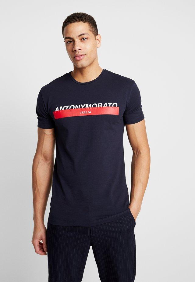 Print T-shirt - ink blue
