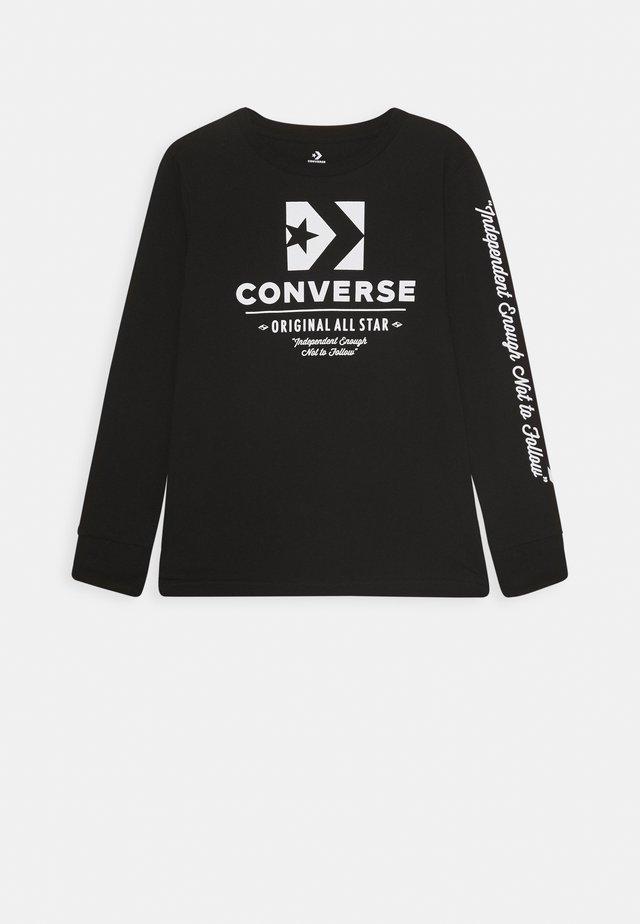ORIGINALS WORDMARK TEE - Langærmede T-shirts - black