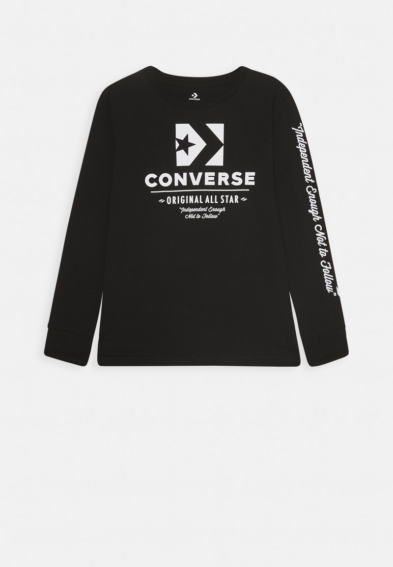 Converse - ORIGINALS WORDMARK TEE - Long sleeved top - black