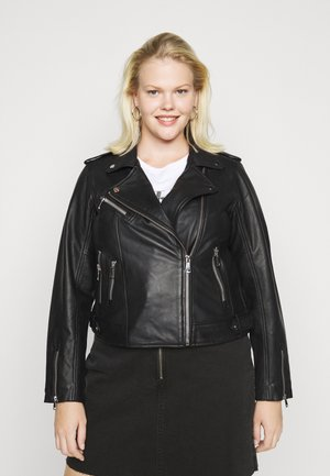 VMANNA SHORTJACKET  - Kožená bunda - black