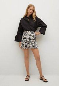 Mango - Wrap skirt - ecru - 1