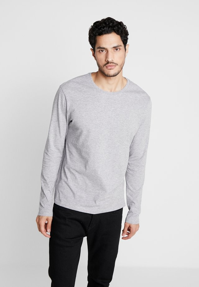 T-shirt à manches longues - mottled grey