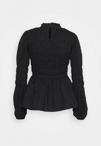 Dorothy Perkins - SHIRRED BODY LONG SLEEVE BLACK FLORAL TOP - Blouse - black - 1
