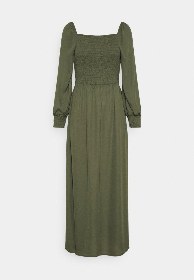 JDY - JDYMINA 3/4 SMOCK ANKLE DRESS - Maxi dress - kalamata