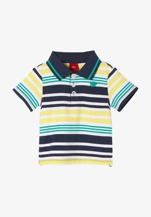 Polo shirt - dark blue/yellow stripes