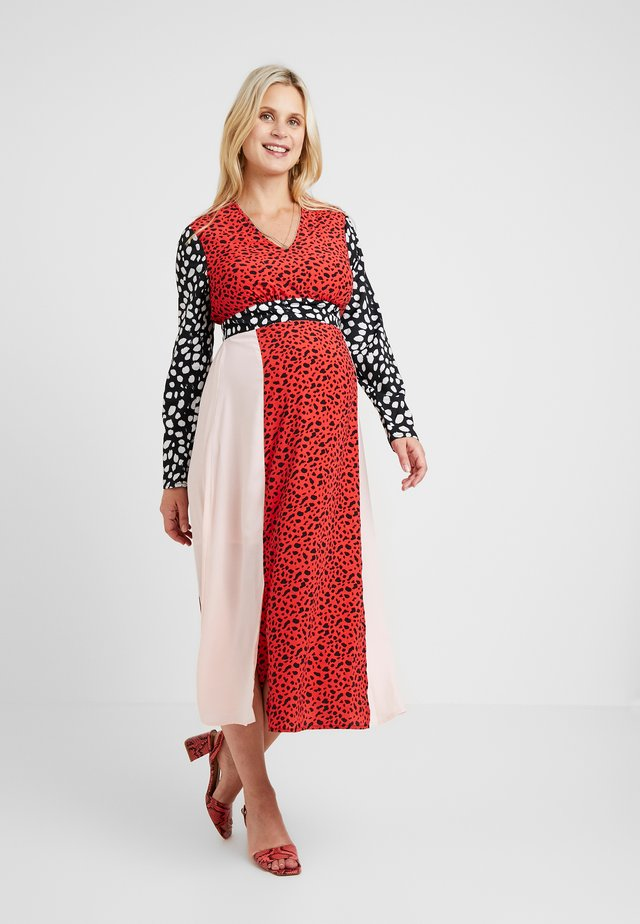 LONG SLEEVE MIDI DRESS - Vapaa-ajan mekko - multi