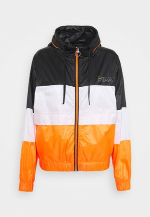 ALBERTA WIND JACKET - Training jacket - black iris/bright white/orange clown fish