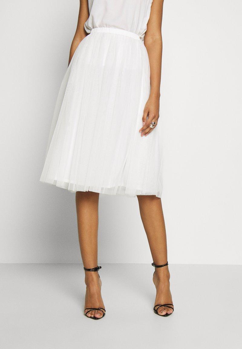 Lace & Beads - VAL SKIRT - A-line skjørt - white