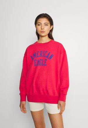 OVERSIZED VINTAGE CREW WASH - Sweatshirt - raisin red