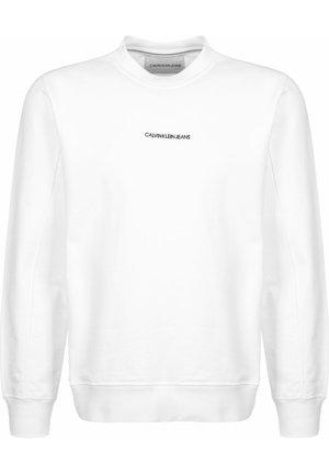 INSTIT CHEST LOGO CREWNECK - Sweatshirt - white