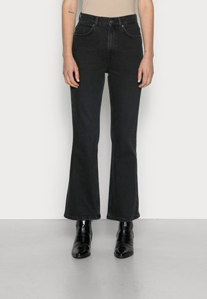 SLFKAYLEE JAZZ BLACK CROP  - Flared Jeans - black denim