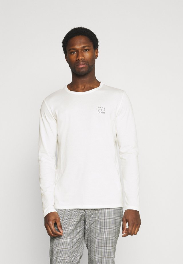 LONG SLEEVE SMALL LOGO - Long sleeved top - scandinavian white