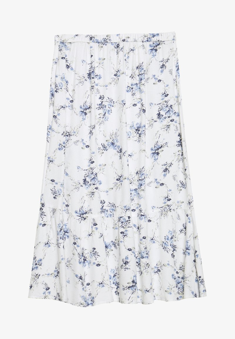 Abercrombie & Fitch - RUFFLE MIDI - A-line skirt - white