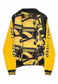 SEXFORSAINTS - ANTI-HERO VARSITY - Faux leather jacket - metallic black - 7