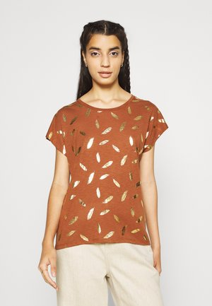 ONLFEATHER - T-shirt print - tortoise shell