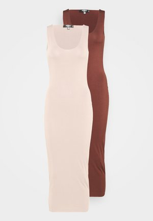 SLINKY RACER DRESS 2 PACK - Maxi dress - sand/chocolate