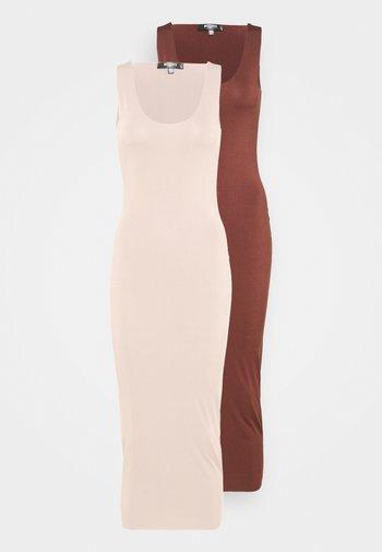 SLINKY RACER DRESS 2 PACK - Maxi dress - sand/chocolate
