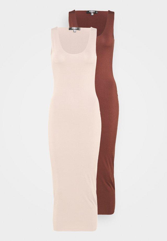 SLINKY RACER DRESS 2 PACK - Długa sukienka - sand/chocolate