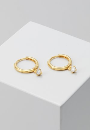 MYSTIC DROP GEM HOOPS - Earrings - gold-coloured