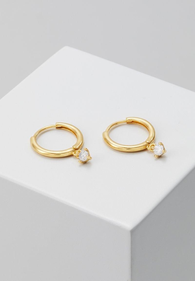 Astrid & Miyu - MYSTIC DROP GEM HOOPS - Earrings - gold-coloured