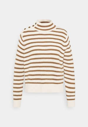 STRIPE - Jumper - toasted cocount