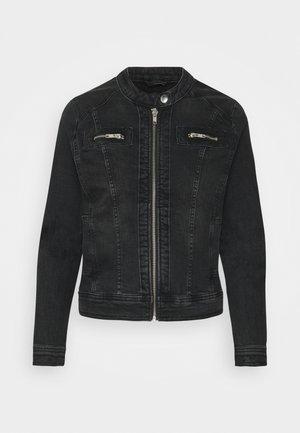 ONLTIA BANDIT BIKER TALL - Denim jacket - black denim
