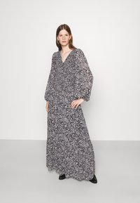 MICHAEL Michael Kors - BICOLOR DRESS - Maxi dress - black/white - 0