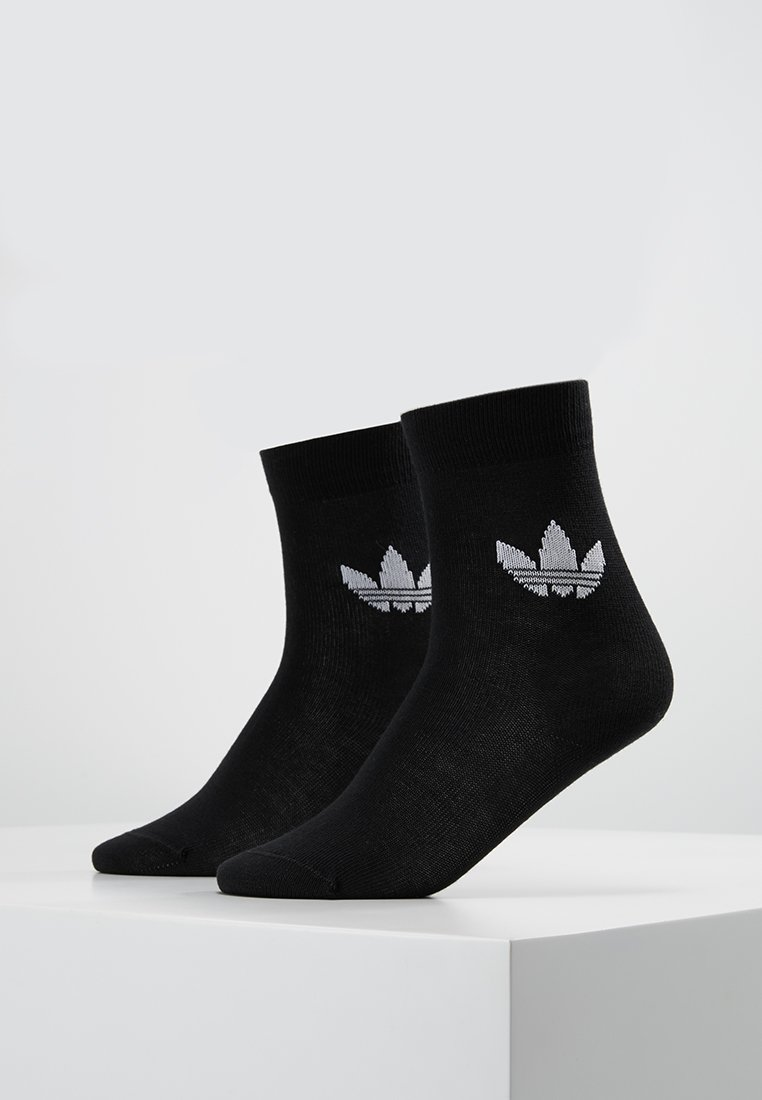 adidas Originals - THIN TREF CREW 2 PACK - Socks - black/white