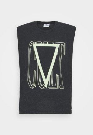 CULT SLEEVELESS TEE - Print T-shirt - black