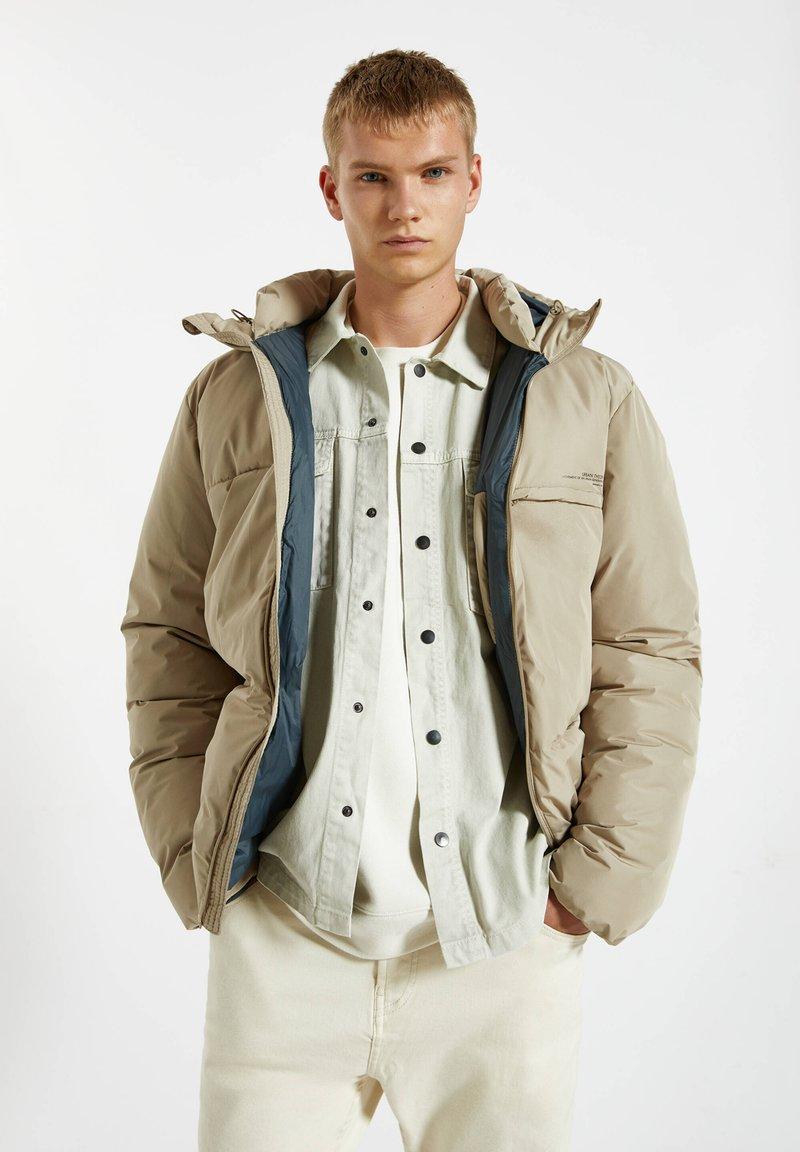 PULL&BEAR - Winter jacket - mottled beige