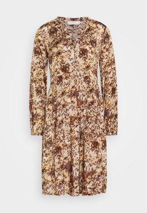 AUGUSTA DRESS - Denní šaty - brown fall leafs