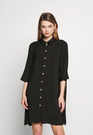 VMLAUREL BUTTON - Shirt dress - black