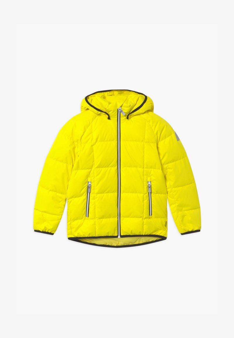 Reima - JORD UNISEX - Down jacket - lemon yellow