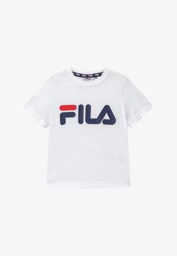 LEA CLASSIC LOGO UNISEX - Print T-shirt - bright white