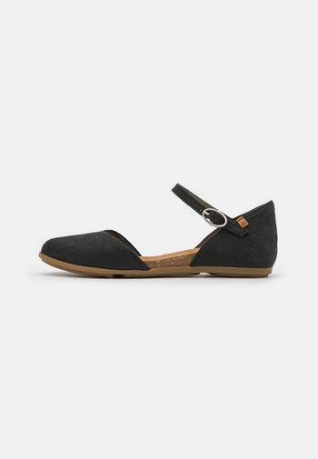 STELLA - Ankle strap ballet pumps - black