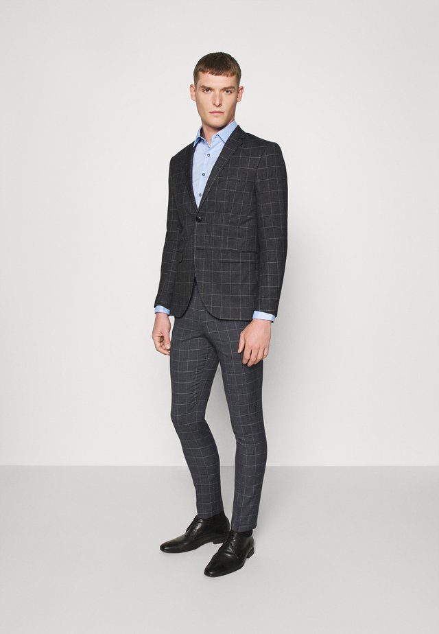 JPRBLAFRANCO MIX SUIT - Suit - dark grey